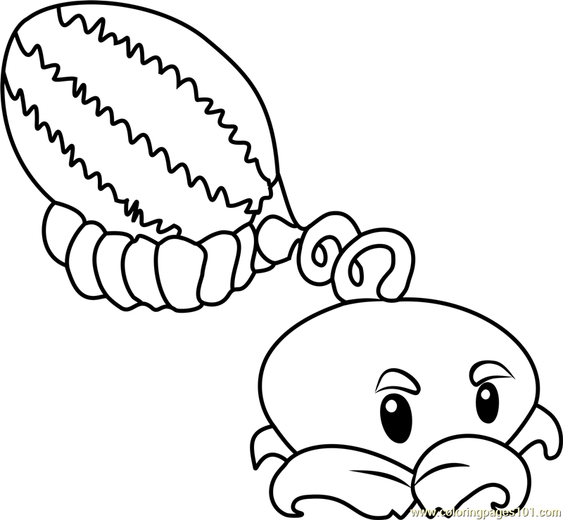 Melon-pult Coloring Page