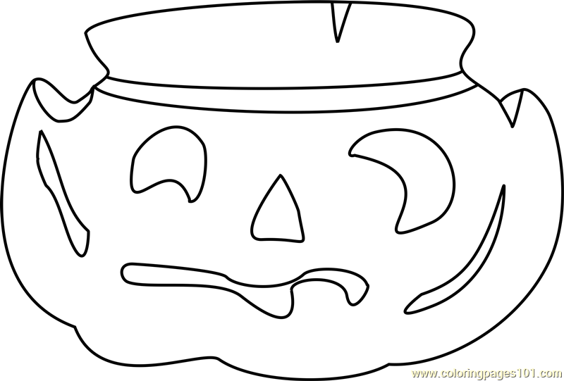 Pumpkin Coloring Page Free Plants