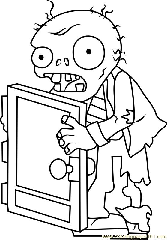 Screen Door Zombie Coloring Page