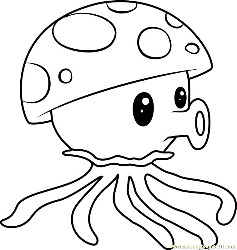 Sea-shroom Coloring Page - Free Plants vs. Zombies ...