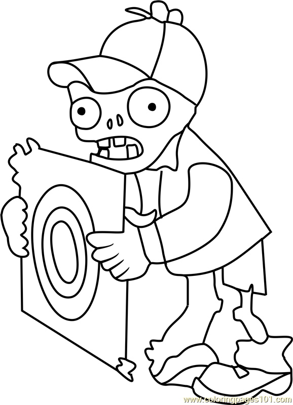 Target Zombie Coloring Page - Free Plants vs. Zombies
