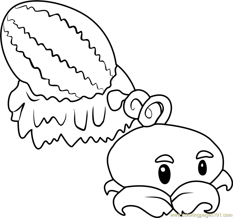 Coloring Pages For Plants Vs Zombies : Winter melon coloring page free plants vs zombies