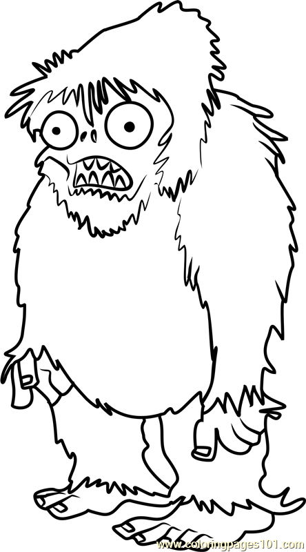 Zombie Yeti Coloring Page