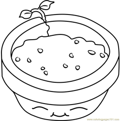 Flower Pot Free Coloring Page for Kids