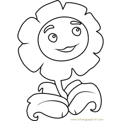 Giant Marigold Free Coloring Page for Kids