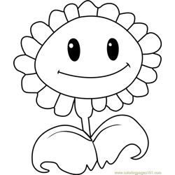 Sunflower Free Coloring Page for Kids