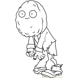 Wall-nut Zombie coloring page