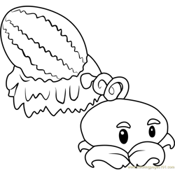 Winter Melon Free Coloring Page for Kids
