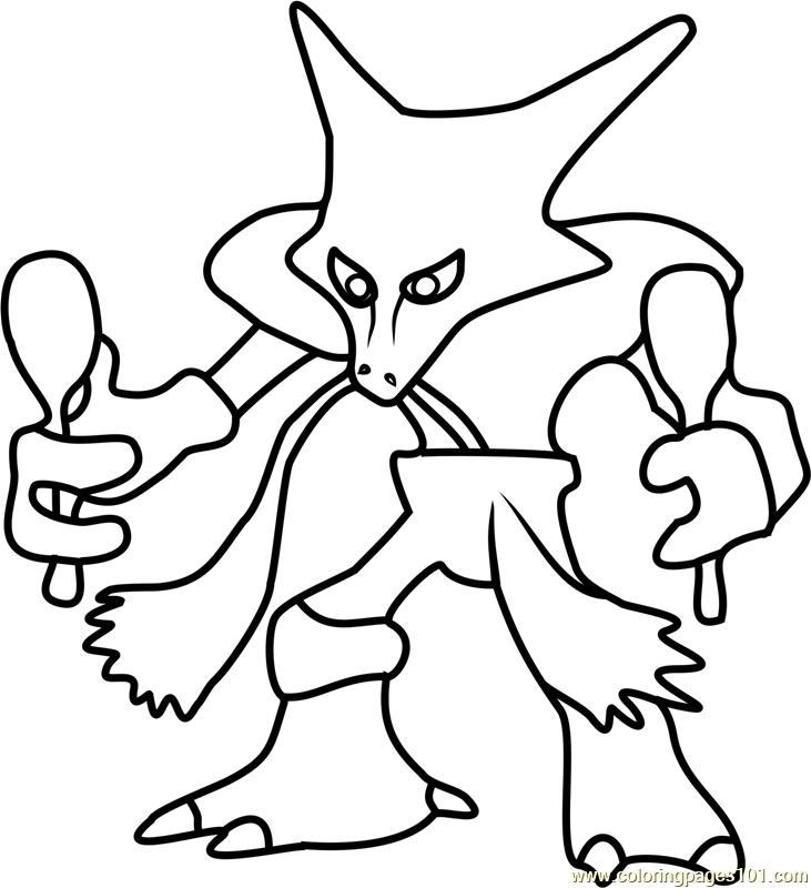 Alakazam Pokemon Go Coloring Page Free Pok 233 Mon Go