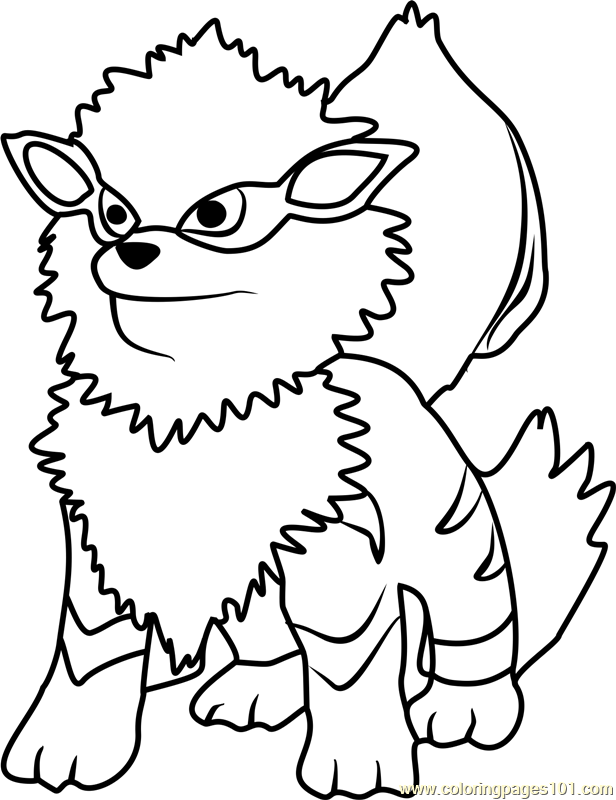 arcanine coloring pages - photo#31