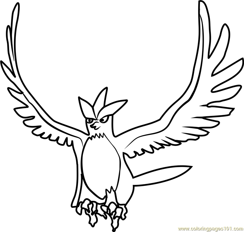 Articuno Pokemon GO Coloring Page - Free Pokémon GO Coloring Pages ...