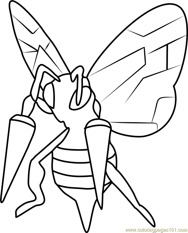 Attractive Beedrill Pokemon GO Coloring Page