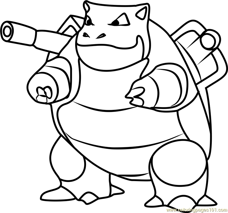 pokemon coloring pages of blastoise - photo#8
