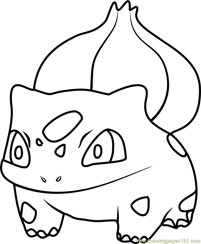 Bulbasaur pokemon go coloring page
