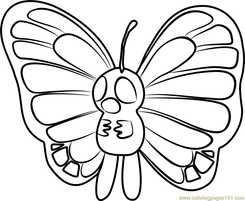 Butterfree Pokemon GO Coloring Page
