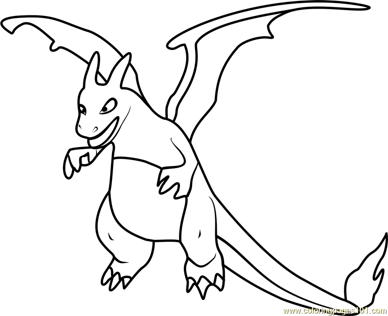 Charizard pokemon go coloring page