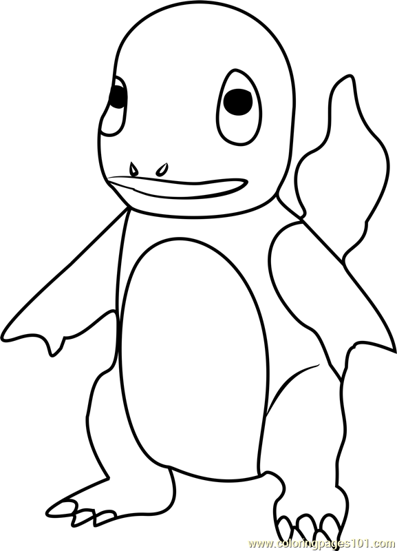 charmander pokemon go coloring page