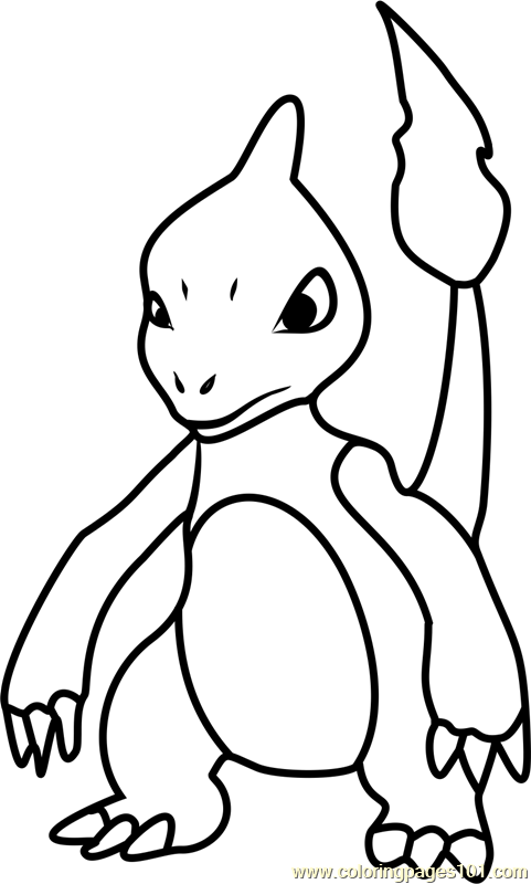 Charmeleon Pokemon GO Coloring Page