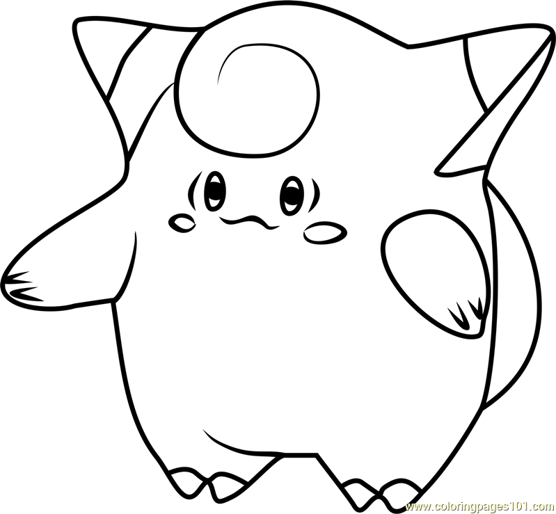 clefairy pokemon go coloring page - Pokemon Go Coloring Pages