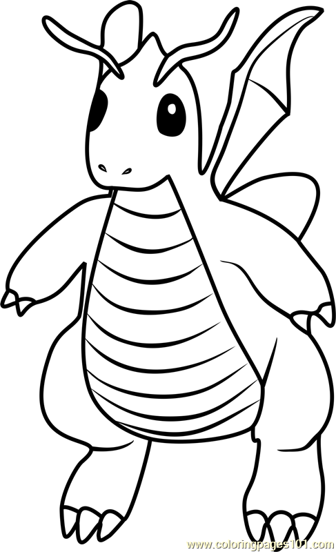 Dragonite Pokemon GO Coloring Page