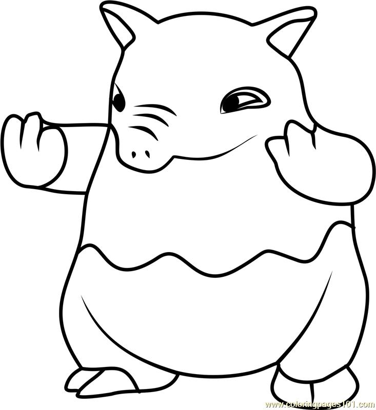 Drowzee Pokemon GO Coloring Page - Free Pokémon GO ...