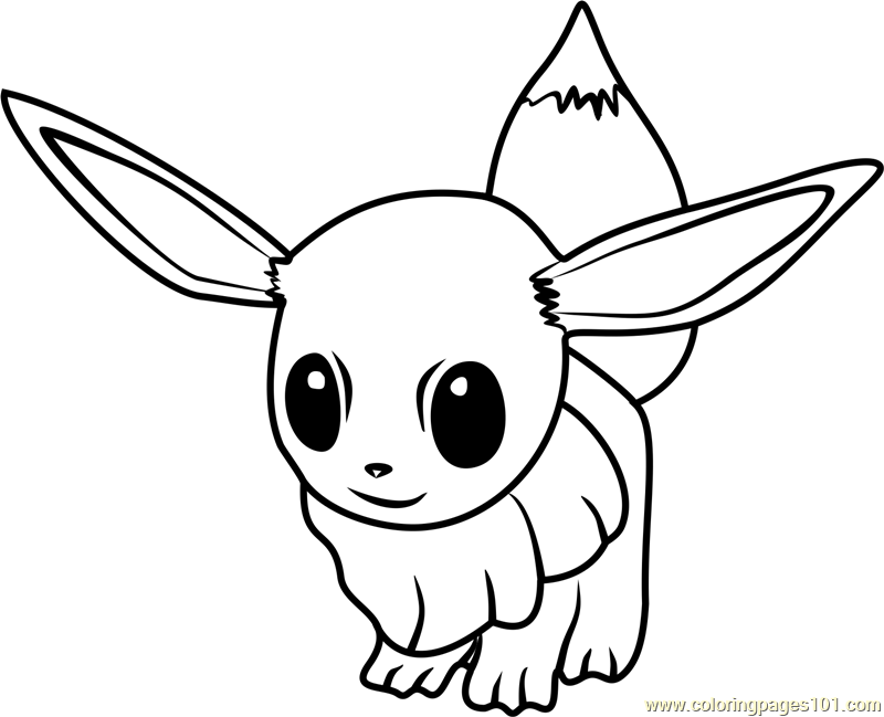 Eevee Pokemon GO Coloring Page - Free Pokémon GO Coloring Pages ...
