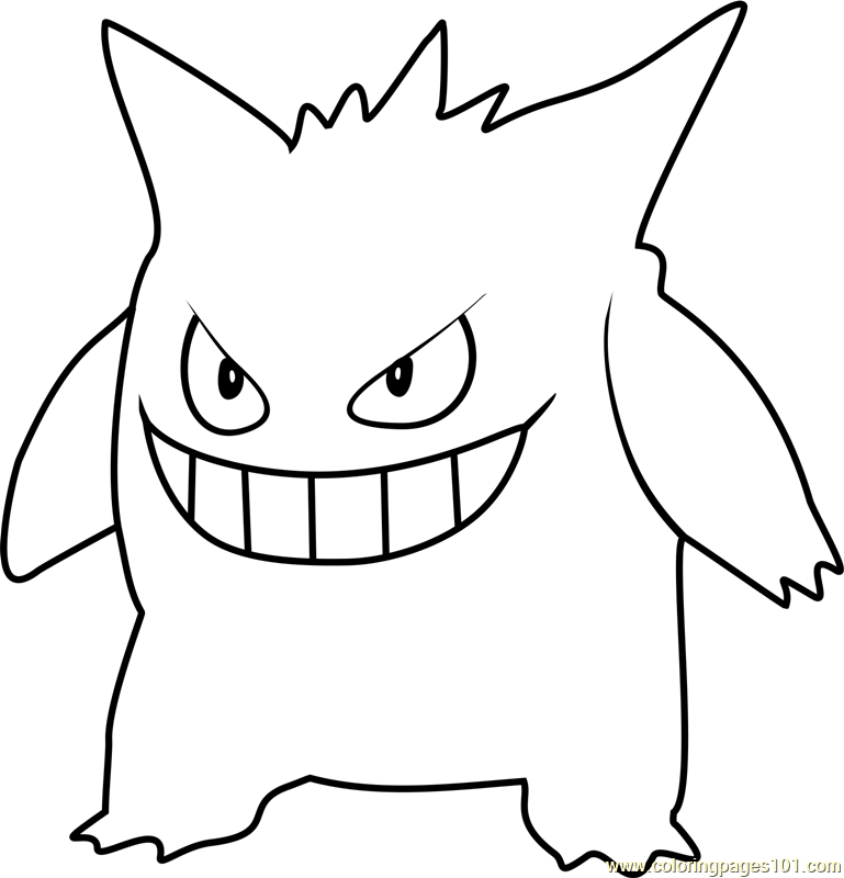 Gengar Pokemon GO Coloring Page