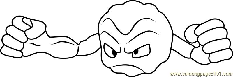 Geodude Pokemon GO Coloring Page