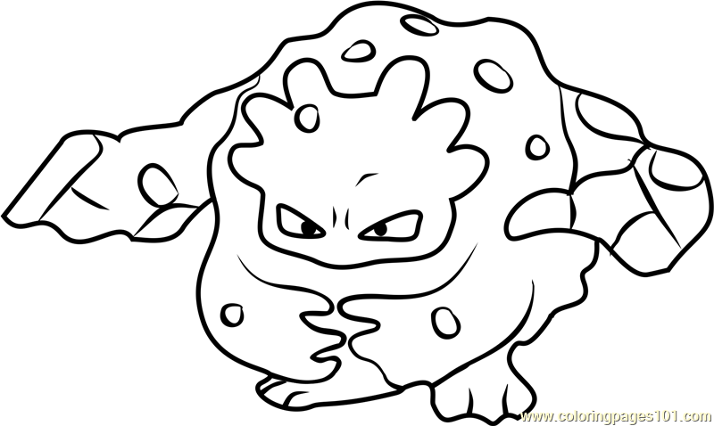 Pokemon Coloring Pages Geodude