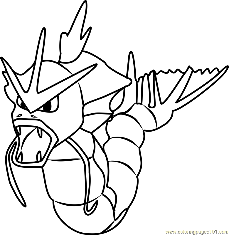 gyarados pokemon go coloring page - Pokemon Go Coloring Pages