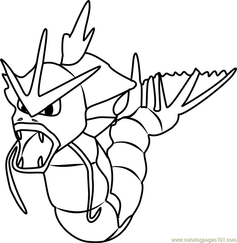 Gyarados Pokemon GO Coloring Page