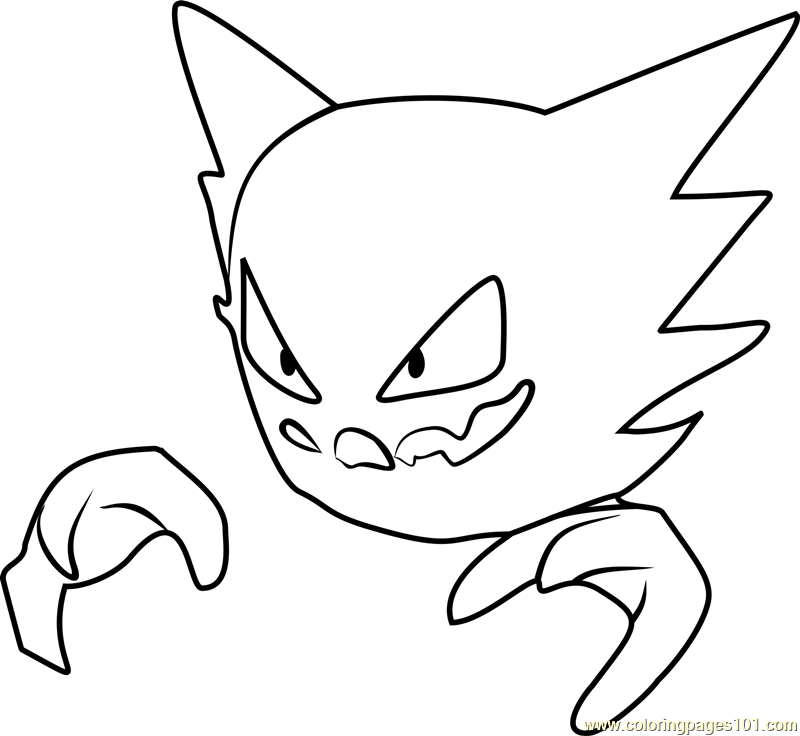 gastly haunter and gengar pokemon coloring pages | Haunter Pokemon GO Coloring Page - Free Pokémon GO ...