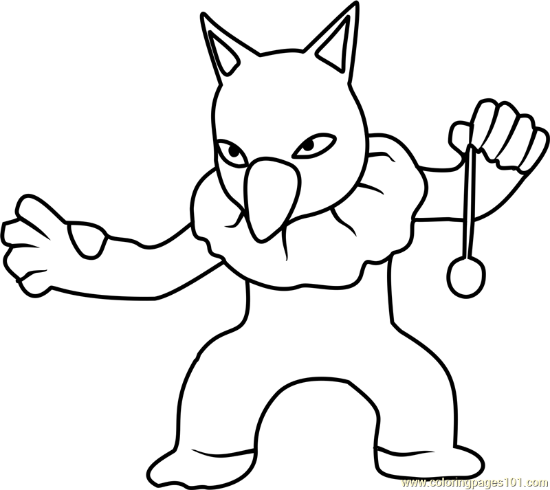 Raichu Pokemon Go Coloring Pages