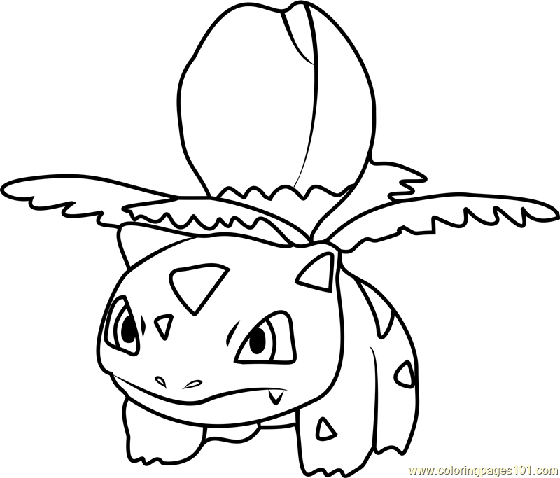 Ivysaur Pokemon GO Coloring Page