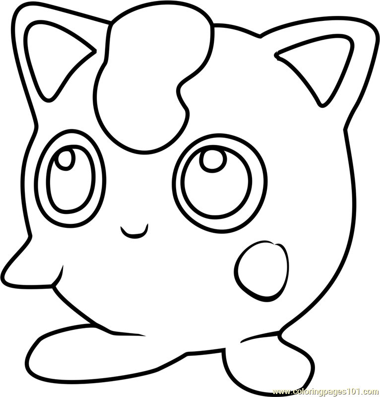 Jigglypuff Pokemon GO Coloring Page