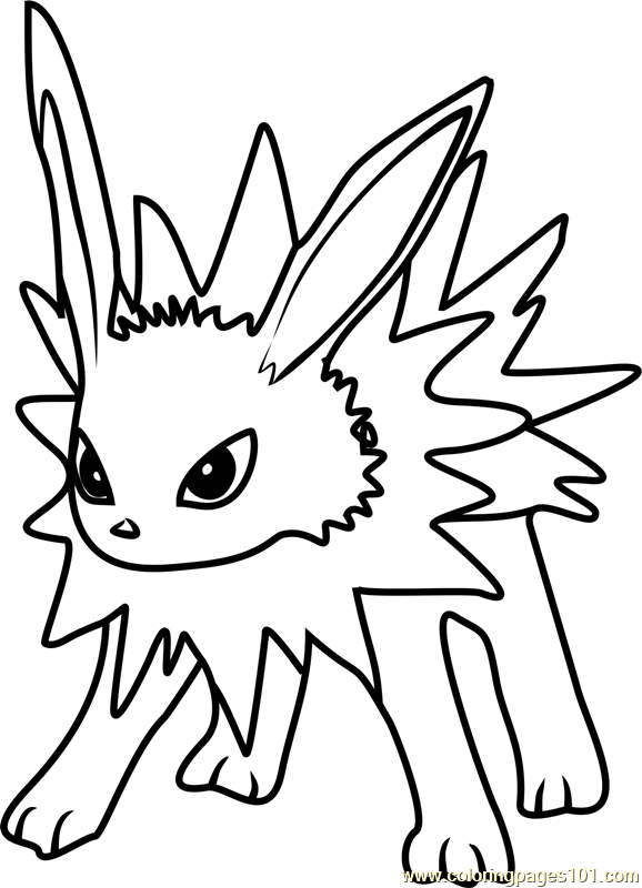 jolteon pokemon go coloring page - Pokemon Go Coloring Pages