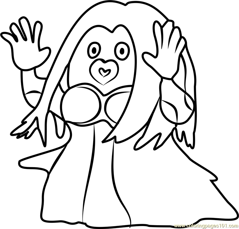 jynx pokemon go coloring page - Pokemon Go Coloring Pages