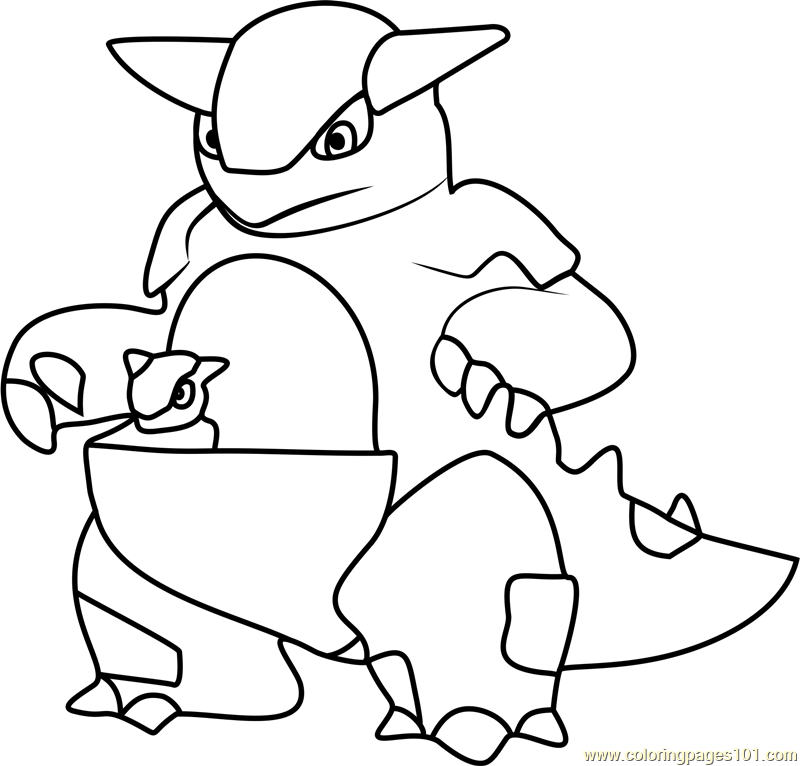 Kangaskhan Pokemon GO Coloring