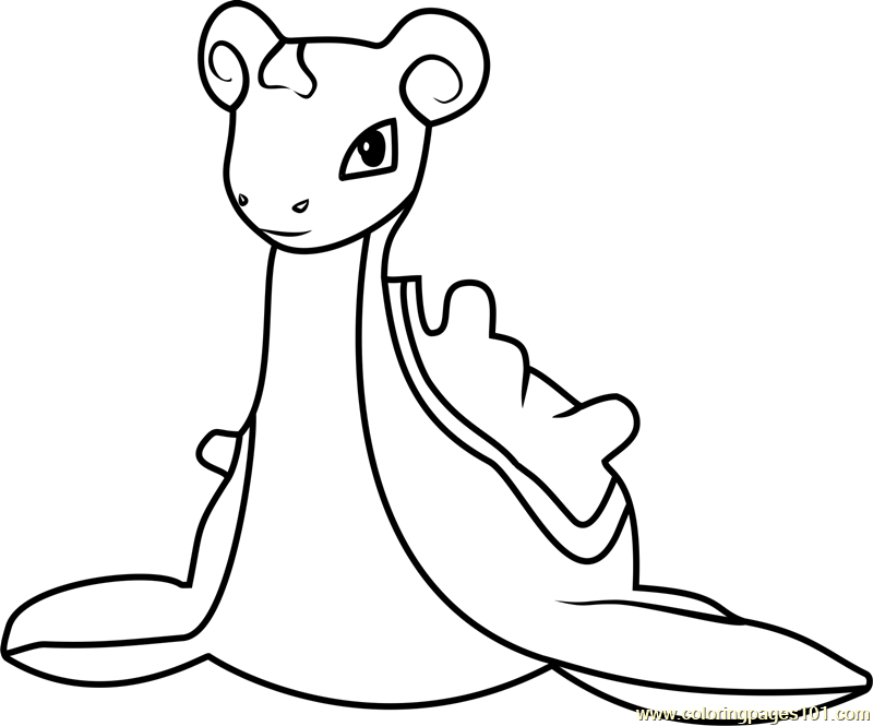 lapras pokemon go coloring page - Pokemon Go Coloring Pages