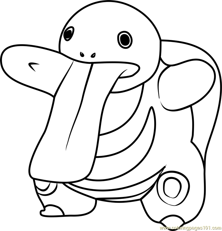 Lickitung Pokemon GO Coloring Page