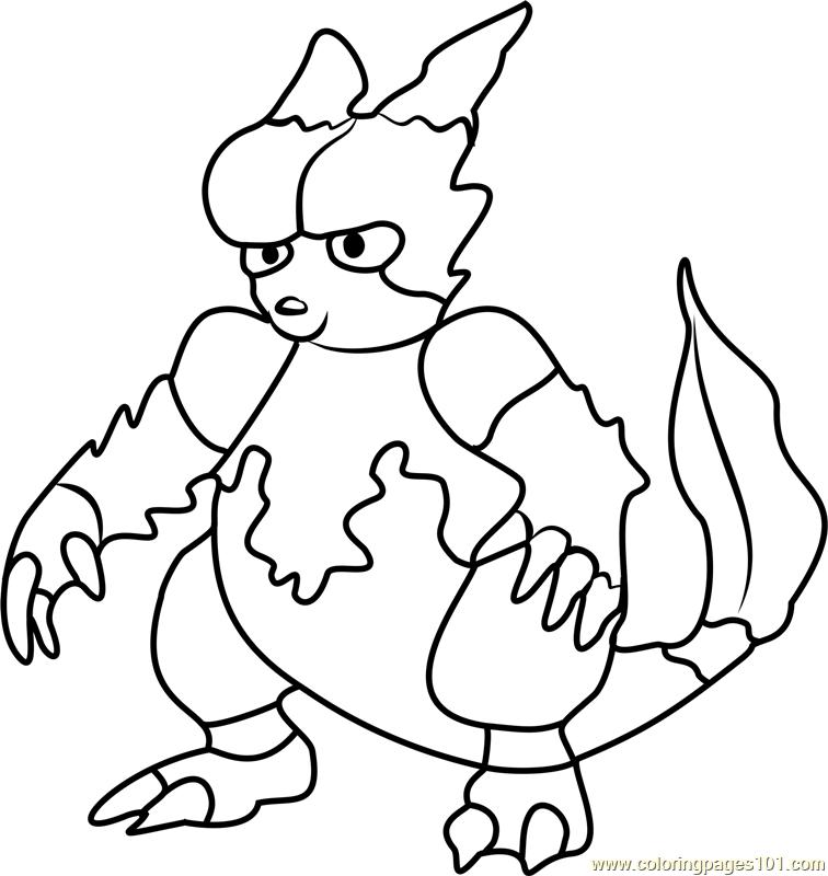 Magmar Pokemon GO Coloring Page