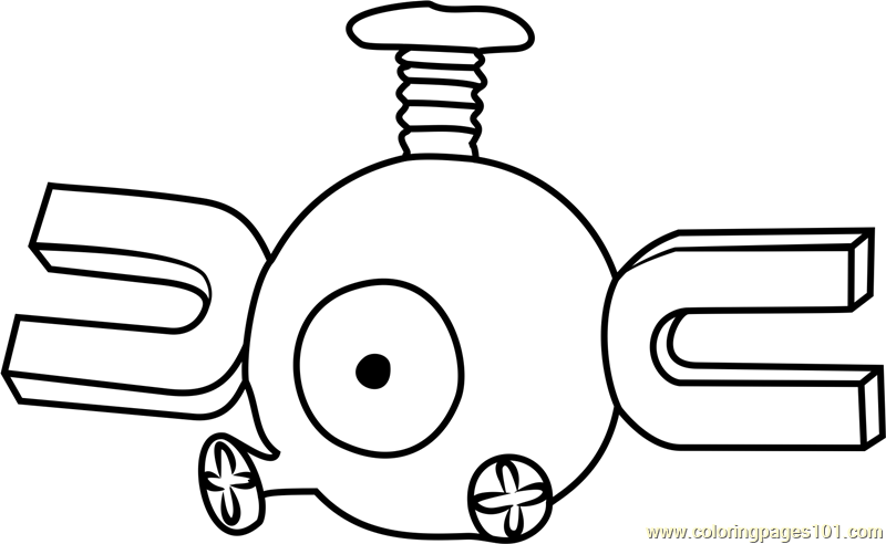 Magnemite Pokemon GO Coloring Page