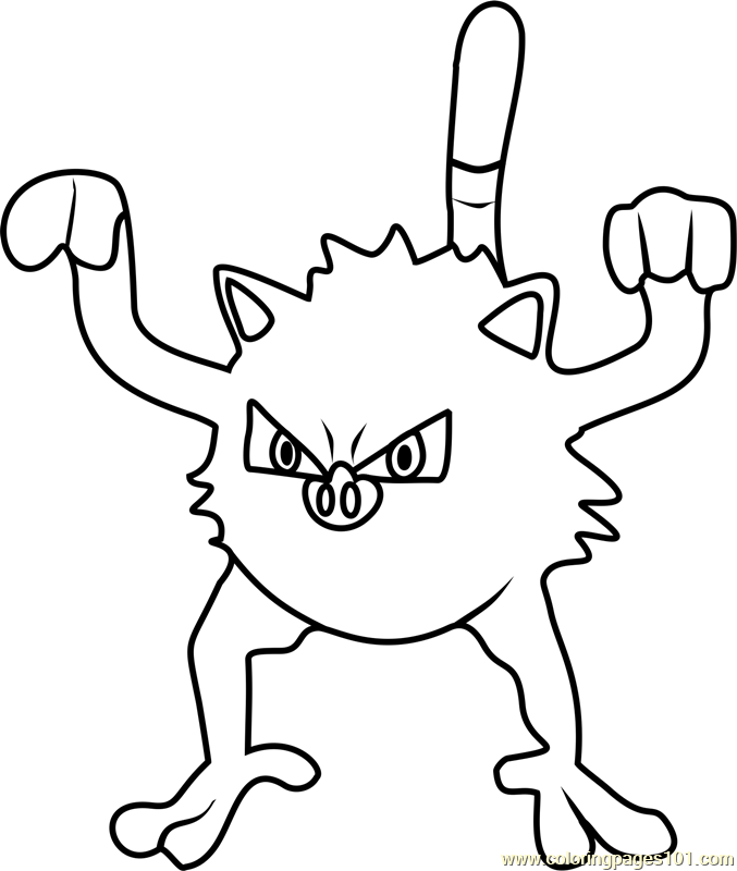 Mankey Pokemon Go Coloring Page Free Pok 233 Mon Go Coloring