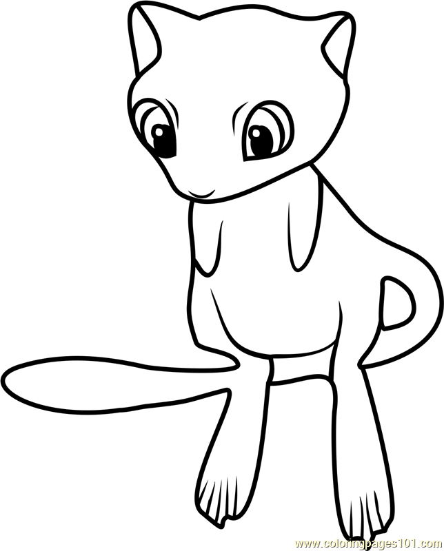Mew Pokemon GO Coloring Page - Free Pokémon GO Coloring ...