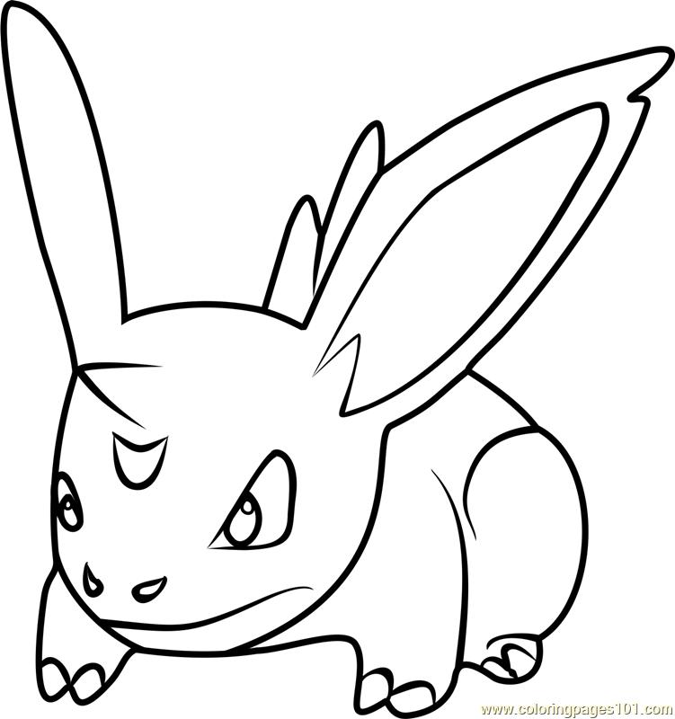 Nidoran Male Pokemon GO Coloring Page