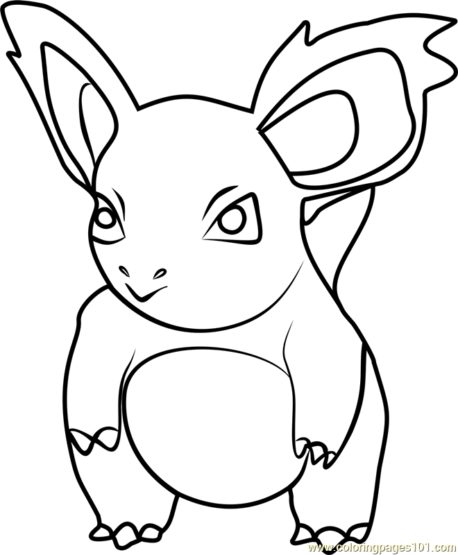 78769 Nidorina Pokemon Go Coloring Page