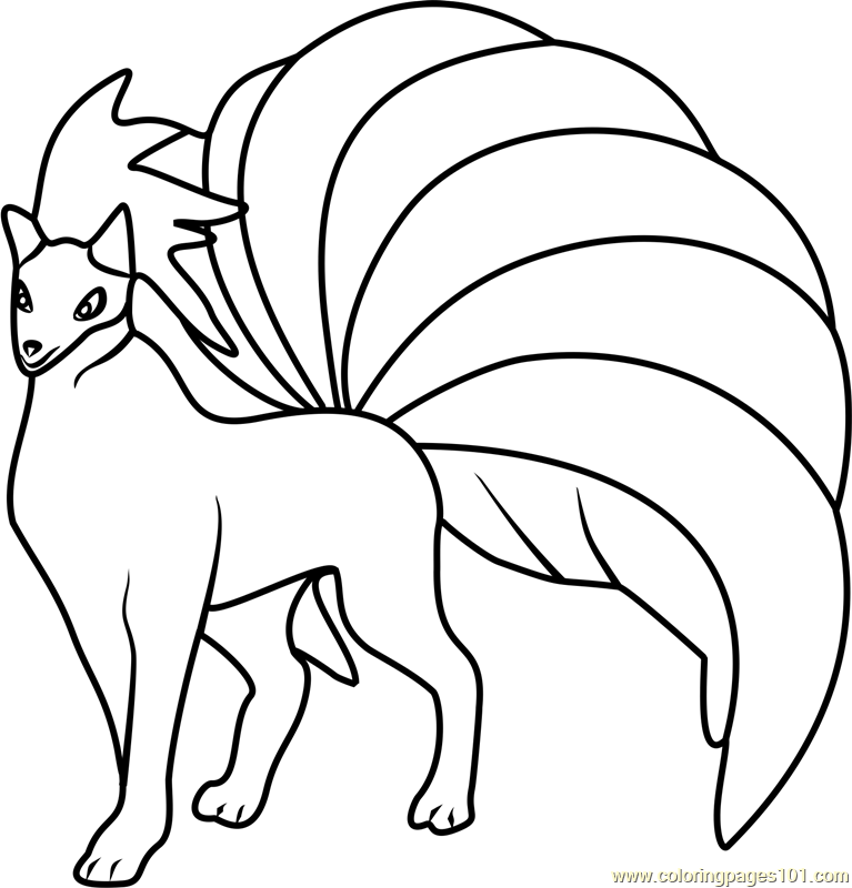 ninetales pokemon go coloring page - Pokemon Go Coloring Pages