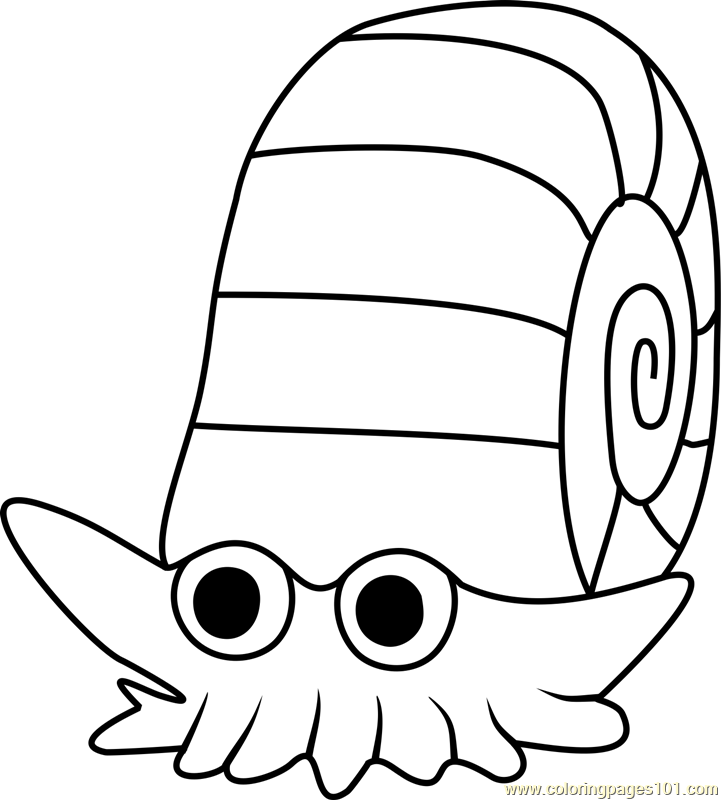 Omanyte Pokemon GO Coloring Page