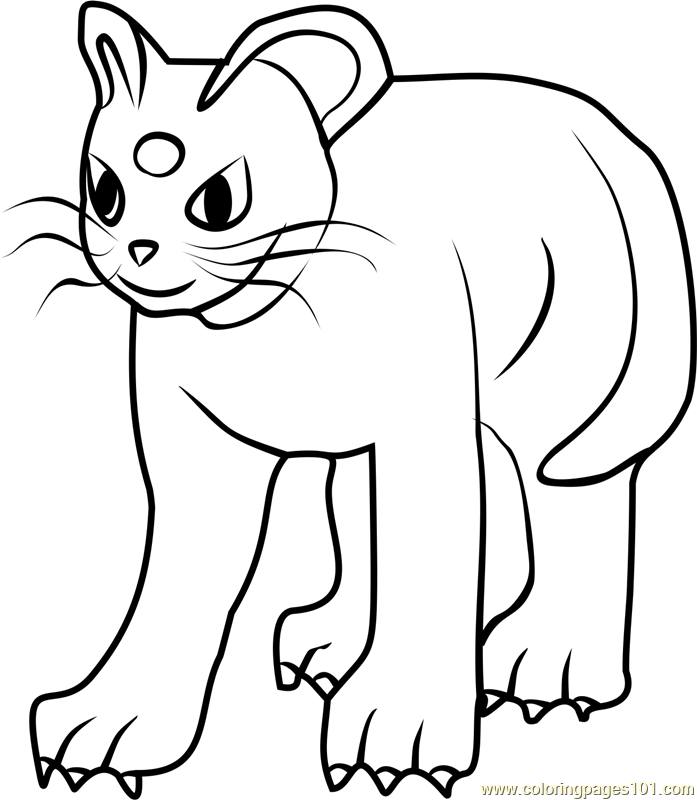 persian pokemon go coloring page