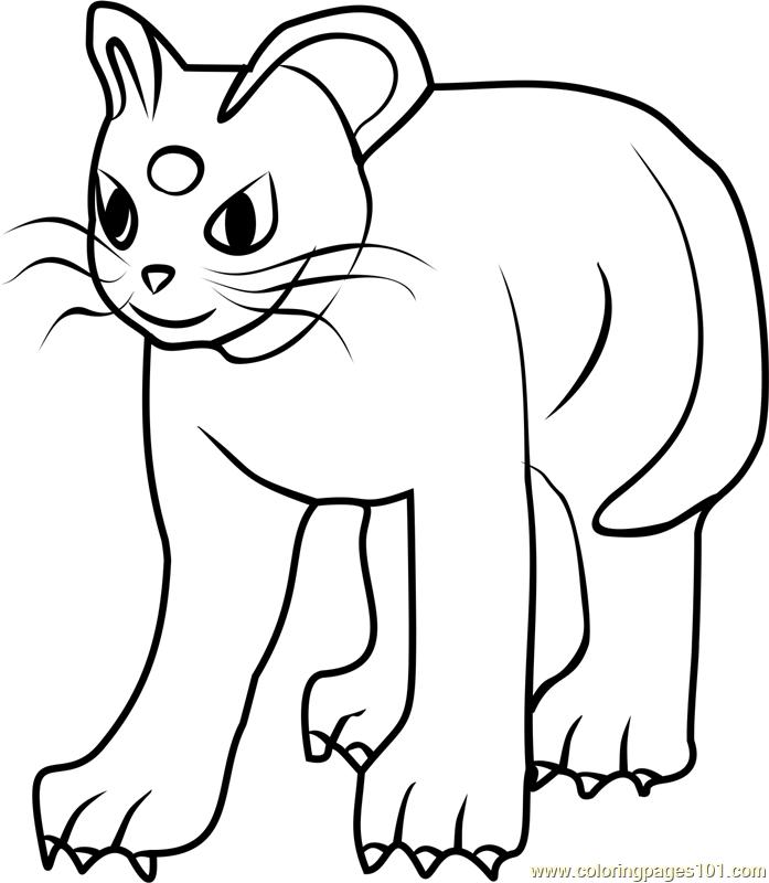 persian pokemon go coloring page